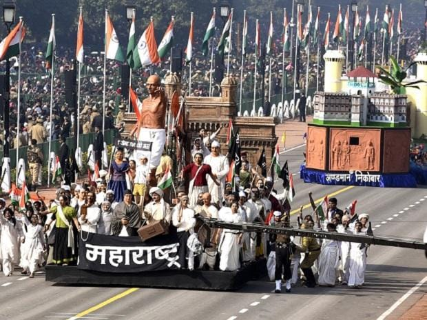 Maharastra tableau on display at Rajpath during the 70th Republic Day Parade