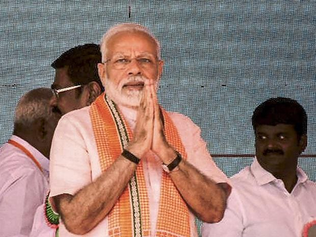 Prime Minister Narendra Modi at the foundation stone laying ceremony of All India Institute of Medical Sciences (AIIMS) in Madurai, Sunday (Photo: PTI)