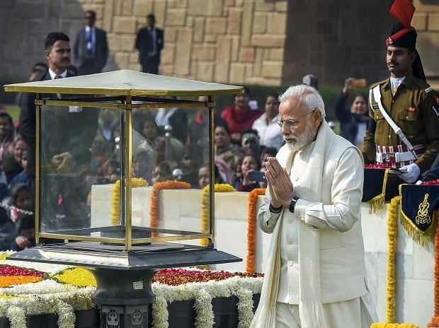 PM Modi pays floral tribute to Mahatma Gandhi on his 71st death anniversary, also observed as Martyrs' Day