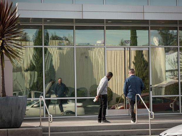 Apple's Hammerwood Avenue in Sunnyvale. Photo: Bloomberg