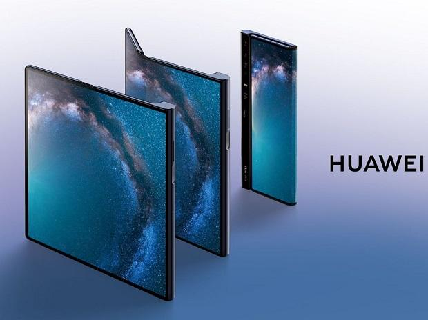 Huawei introduced its foldable smartphone with the 55W Huawei SuperCharge