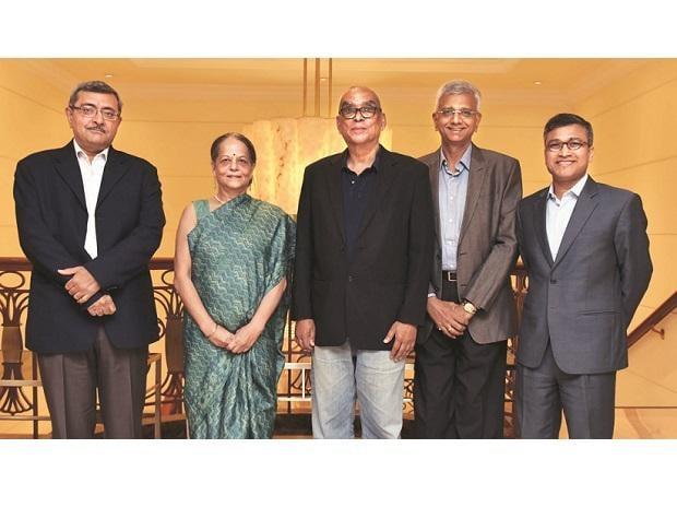 (From left) Larsen & Toubro senior vice-president and electrical  and automation head Hasit Joshipura, former Hindustan Petroleum Corporation chairman and managing director Nishi Vasudeva, Rediff.com founder & CEO Ajit Balakrishnan, and chair