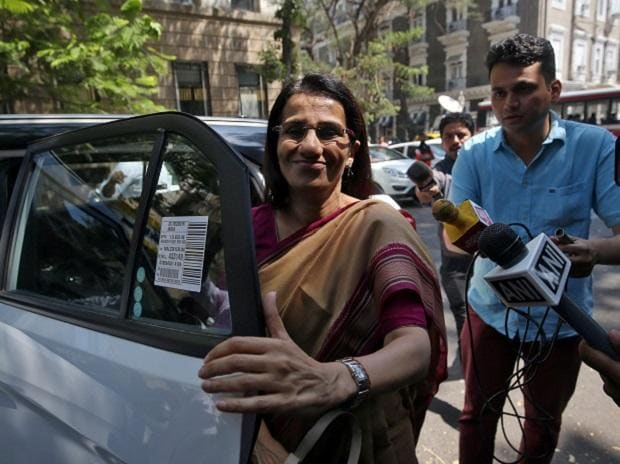 Former ICICI Bank MD & CEO Chanda Kochhar at the Enforcement Directorate office in Mumbai. Photo: Reuters