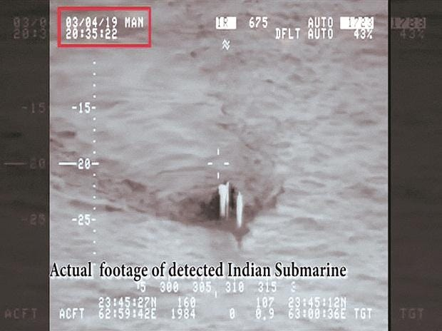 FAKE VIDEO: Soon after the Pakistani statement, a video emerged on social media, purporting to be of the Indian submarine. It quickly emerged this was a fake video, produced by a Pakistani television channel in 2015