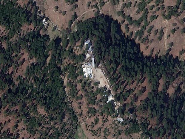 Satellite image shows a close-up of a madrasa near Balakot, Khyber Pakhtunkhwa province, Pakistan