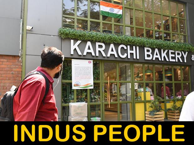 """A sign outside Karachi Bakery in Bengaluru has been put up as proof of its """"Indianness"""". Photo: Saggere Radhakrishna"""