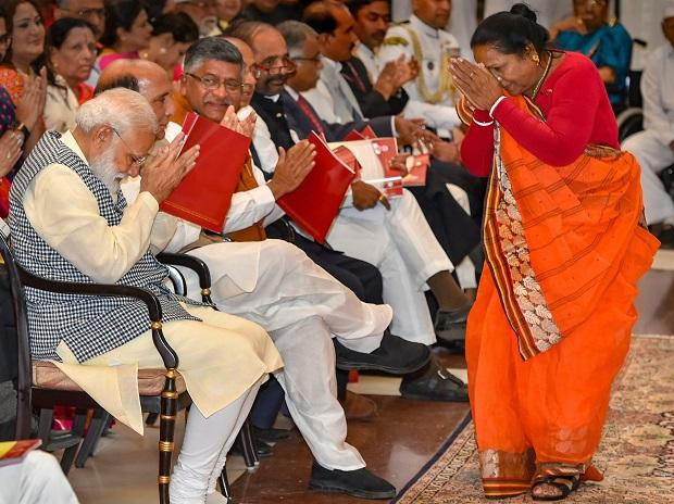 PM Narendra Modi extends his greetings to Padma Shri Bhagirathi Devi, Shikarpur MLA, and social worker after she was felicitated