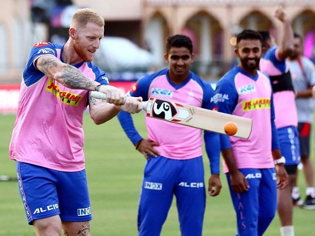 Rajasthan Royals player Ben Stroke during the practice session ahead the IPL match against Kings XI Punjab in Jaipur. File photo: PTI