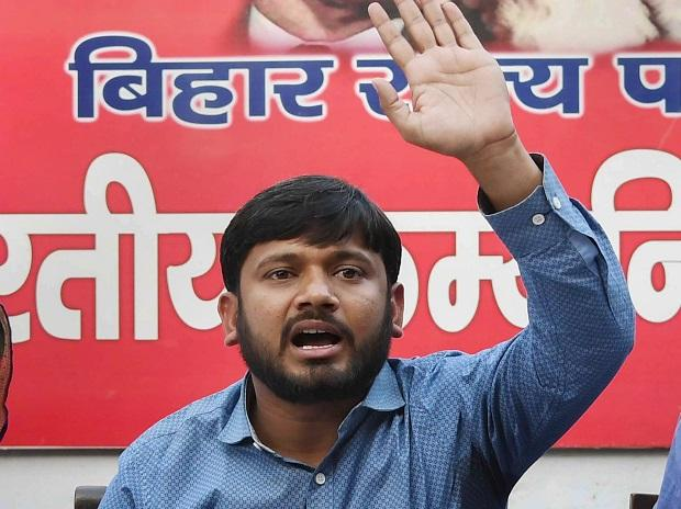 JNU Students Union former president Kanhaiya Kumar addresses a press conference ahead of Lok Sabha Election 2019, in Patna