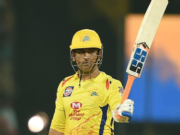 CSK skipper MS Dhoni celebrates his half century during the IPL T20 cricket match between Chennai Super Kings (CSK) and Rajasthan Royals (RR) at MAC Stadium in Chennai, Sunday, March 31, 2019 | Photo: PTI