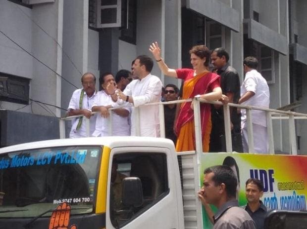 Congress President Rahul Gandhi holds a roadshow in Wayanad after filing nomination from Wayanad in Kerala