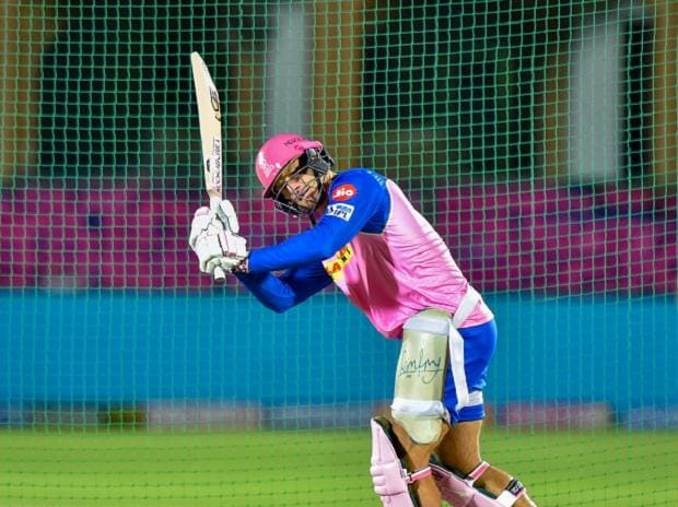 RR batsman Jos Buttler during a training session ahead of IPL match between Rajasthan Royals (RR) and  Kolkata Knight Riders (KKR) in Jaipur. File Photo: PTI