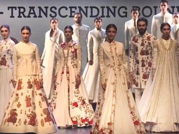 Fashion Design Council of India hosted a fashion show for designer khadi-wear  last year