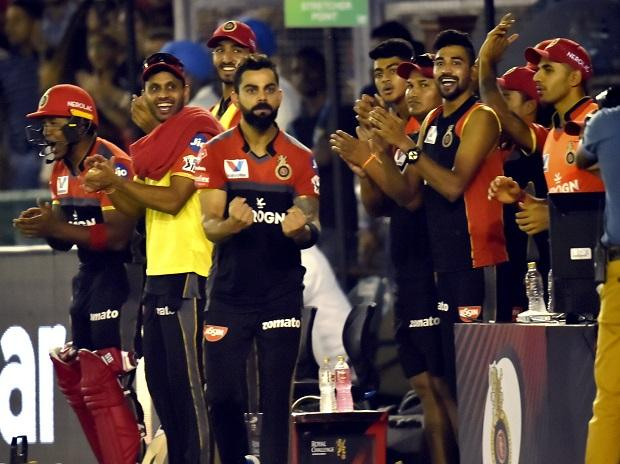 Royal Challengers Bangalore (RCB) captain Virat Kohli reacts during IPL match between Royal Challengers Bangalore (RCB) and Kings XI Punjab( KXIP) at I S Bindra Stadium  in Mohali after winning first match in IPL 2019. Photo: PTI