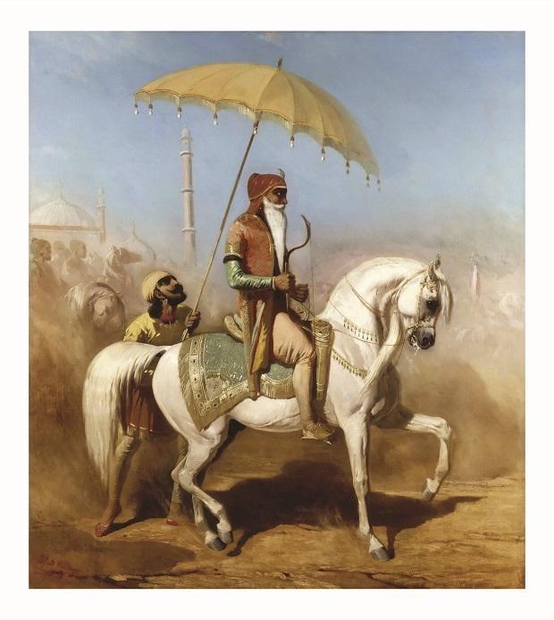 Randjiit Sing Baadour, roi de Lahore by Alfred de Dreux