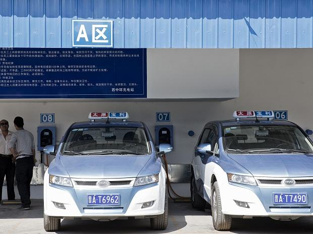 BYD E6 electric taxis