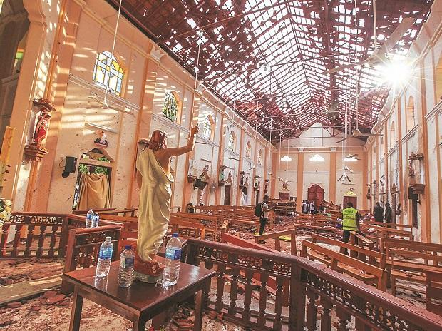 A view of St Sebastian's Church damaged in a blast in Negombo, north of Colombo, on Sunday | Photo: Reuters