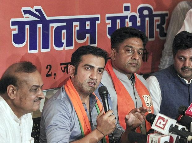 FFormer cricketer and BJP candidate from East Delhi Gautam Gambhir addresses a press conference in New Delhi, Thursday | ormer cricketer and BJP candidate from East Delhi Gautam Gambhir addresses a press conference in New Delhi, Thursday | Photo: PTI