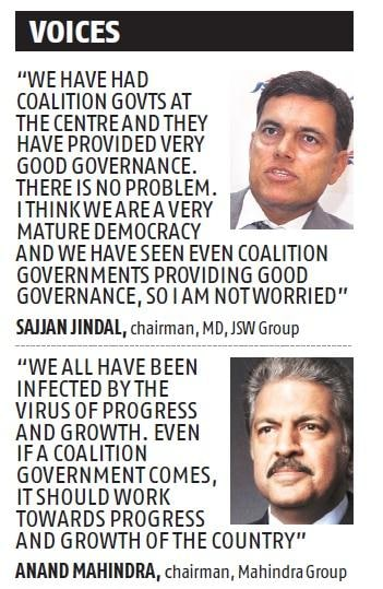 Political coalition fine, but should work towards progress: India Inc