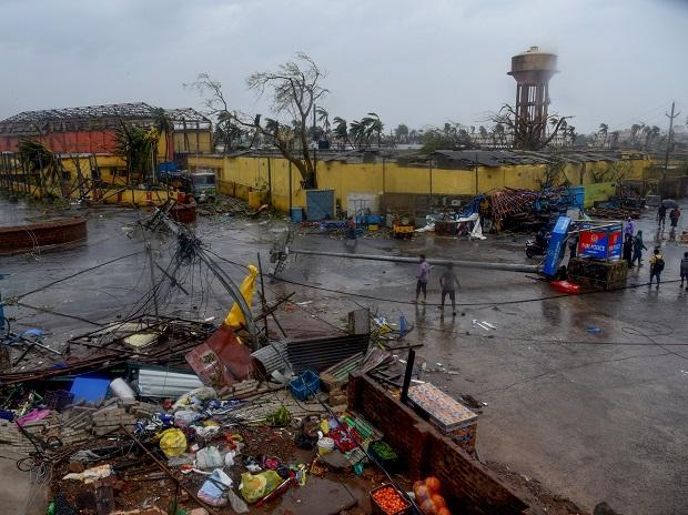 A view of the destruction caused by Cyclone Fani after its landfall, in Puri, Friday, May 3, 2019. Photo: PTI