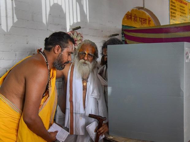 Ram Janma Bhoomi Nyas Samiti's Mahant Nritya Gopal Das comes out after casting his vote