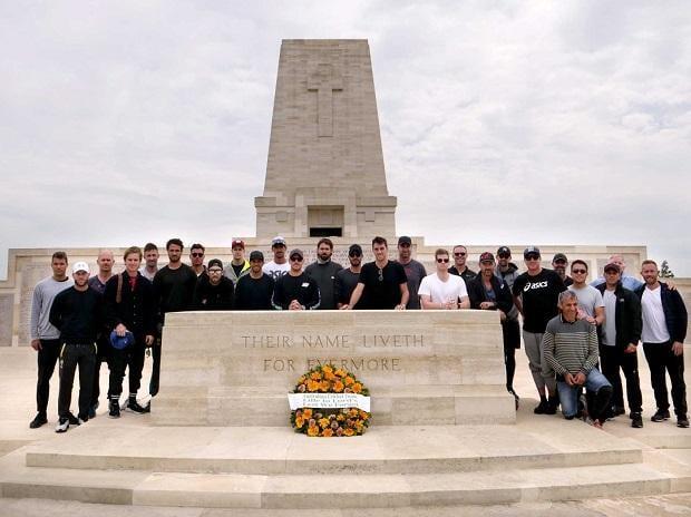Australia cricket team at Gallipoli