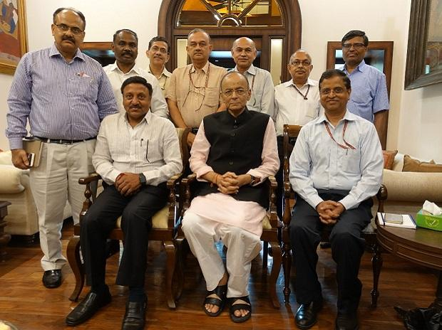Finance Minister Arun Jaitley held a  meeting with top bureaucrats on Friday