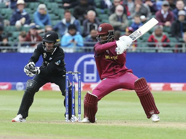 Bristol: West Indies' Shai Hope, right, in batting action during the Cricket World Cup Warm up match against New Zealand at the Bristol County Ground, Bristol, England, Tuesday May 28, 2019. (AP/PTI)