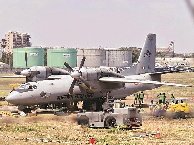 An AN-32 carries supplies that sustain army troops on the LAC