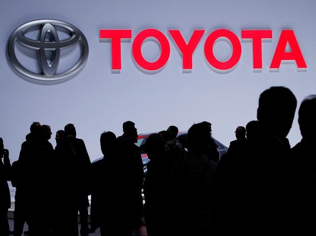 A Toyota logo is displayed at the 89th Geneva International Motor Show in Geneva, Switzerland, March 5, 2019. Photo: Reuters