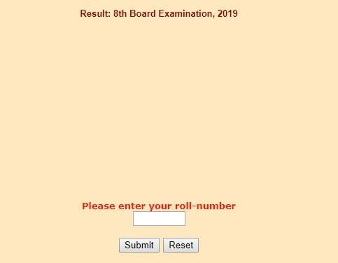 RBSE 8th Result 2019 declared on rajresults nic in: Click