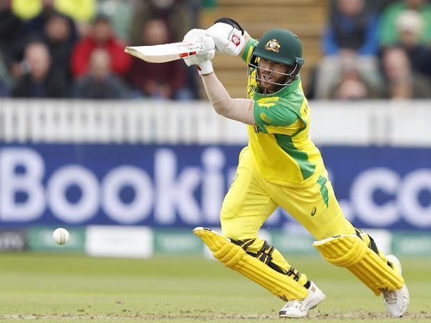 Australia's Glenn Maxwell plays a shot off the bowling of Pakistan's Mohammad Hafeez