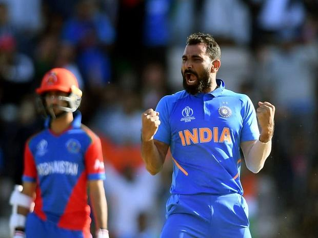 Mohammed Shami took hattrick in ICC ODI World Cup 2019 against Afghanistan. Photo: @cricketworldcup