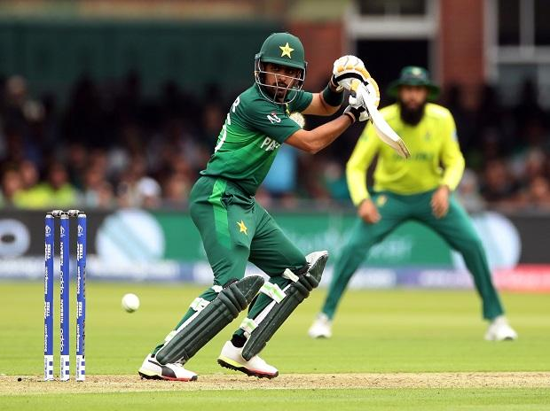 Babar Azam hits fifty against South Africa. Photo: Reuters