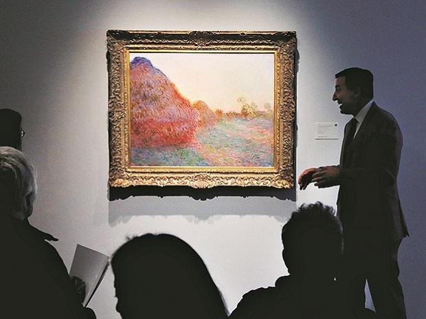 The 'Les Meules' by Claude Monet at display, during a press preview of their upcoming impressionist and modern art sale in New YorkPhoto: Reuters