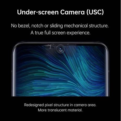 Oppo under-screen camera solution
