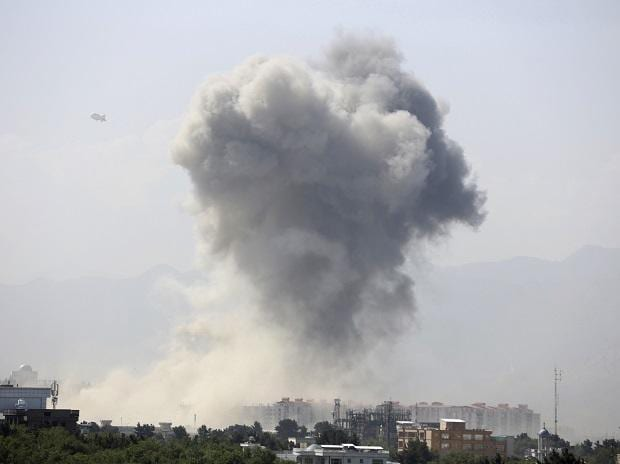 Powerful explosion rocks Afghan capital, with smoke seen billowing from downtown area