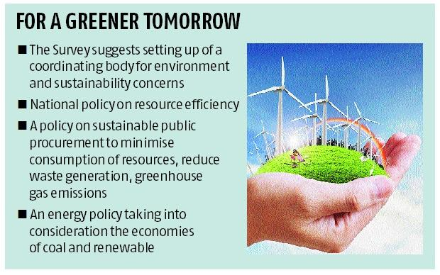 Economic Survey calls for coordinating body for resource efficiency