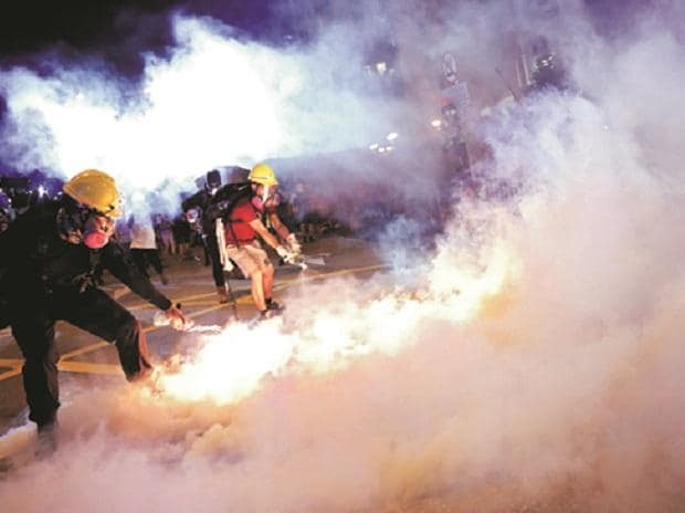 Hong Kong protests enter 10th weekend, police fire tear gas to quell unrest