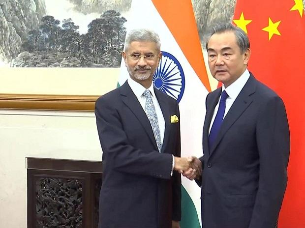 External Affairs Minister Subrahmanyam Jaishankar meets Foreign Minister of China, Wang Yi in Beijing | Photo: ANI