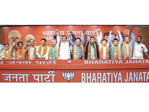 BJP now main opposition in Sikkim as 10 SDF MLA's join party