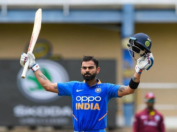 Virat Kohli after scoring 43rd ODI Century