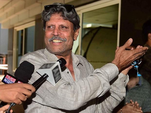 Former cricket captain Kapil Dev arrives at the BCCI headquarters to conduct interviews of shortlisted candidates for Indian cricket team's head coach Photo: PTI