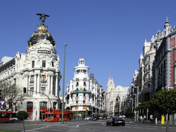 Calle de Alcalá, Street in Madrid, Spain