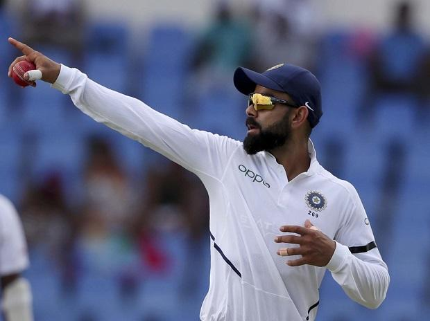 India vs west indies, Virat Kohli during the first test