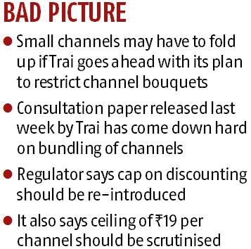 Small channels in panic mode after Trai proposes new television plans