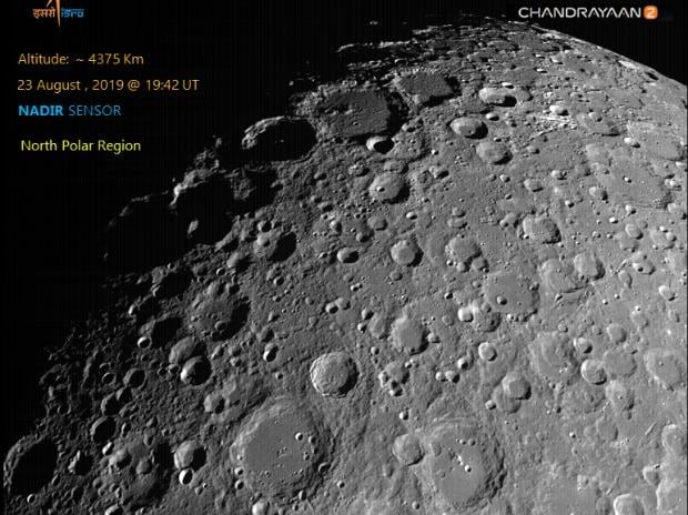 August 22, 2019 - ISRO releases first Moon image captured by Chandrayaan-2