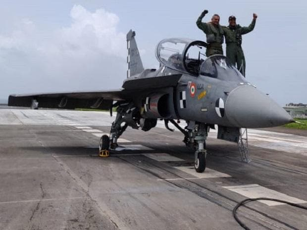 'Golden letter day' as Navy Tejas fighter jet conducts crucial landing