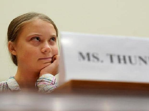 You are awed by Thunberg's resolve to make the powers-that-be understand that the world is not theirs to squander