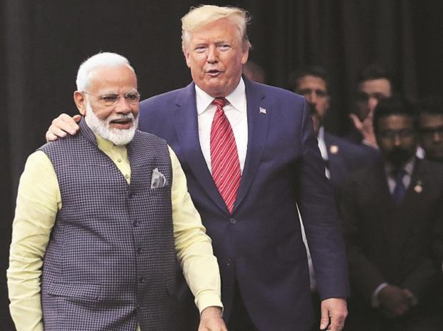 Modi with Trump during the ' Howdy Modi' event